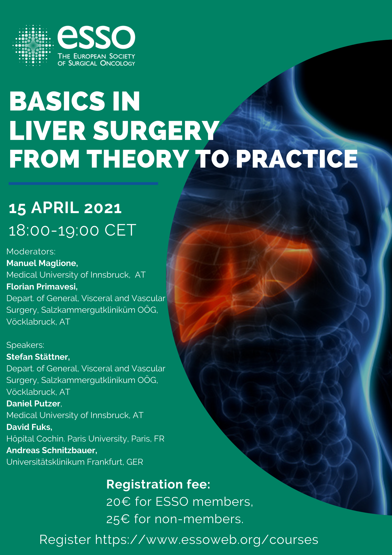ESSO Webinar: Basics in liver surgery — from theory to practice