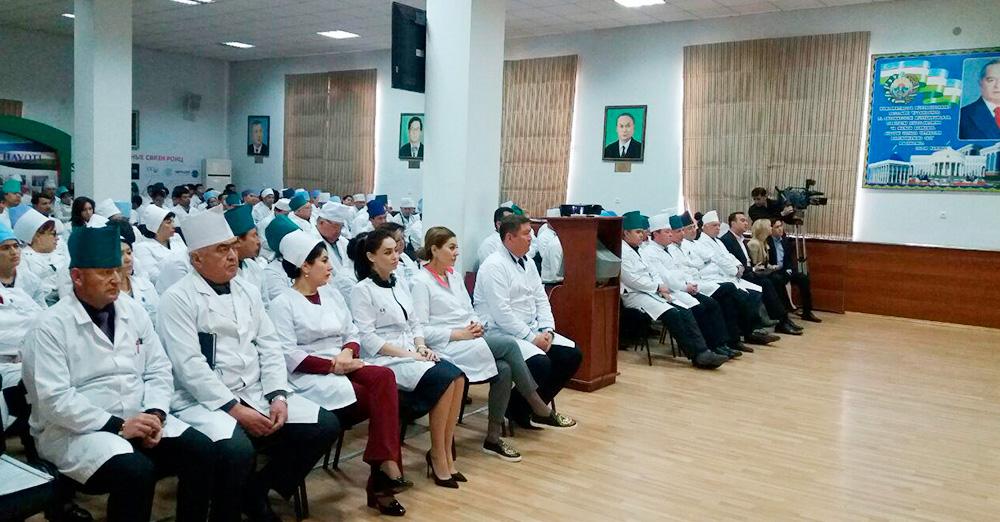 Визит делегации из Российского онкологического научного центра им. Н. Н. Блохина