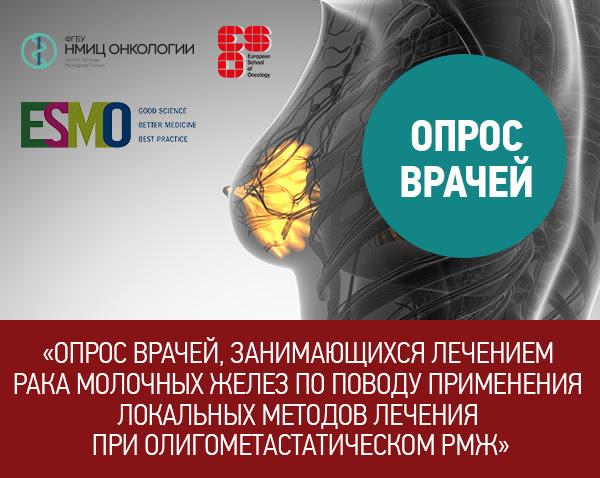Опрос врачей, занимающихся лечением рака молочных желез