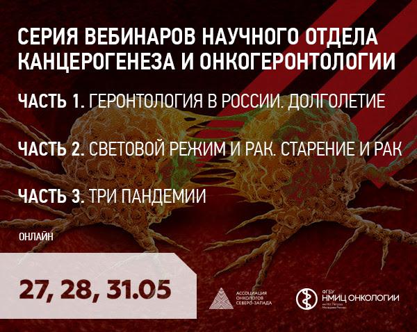 Серия вебинаров научного отдела канцерогенеза и онкогеронтологии